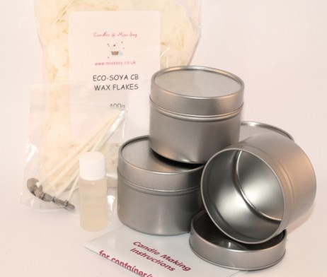 Candle Making Kit : Tins - Candles @ Miss Soy