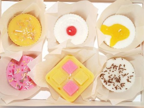 afternoon tea cupcake candles : box of 6