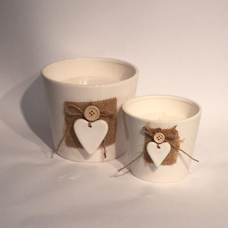 white porcelain 3d heart