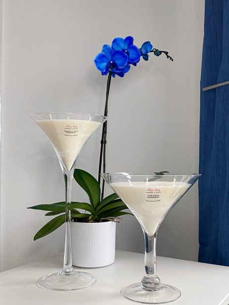 martini glasses x 2