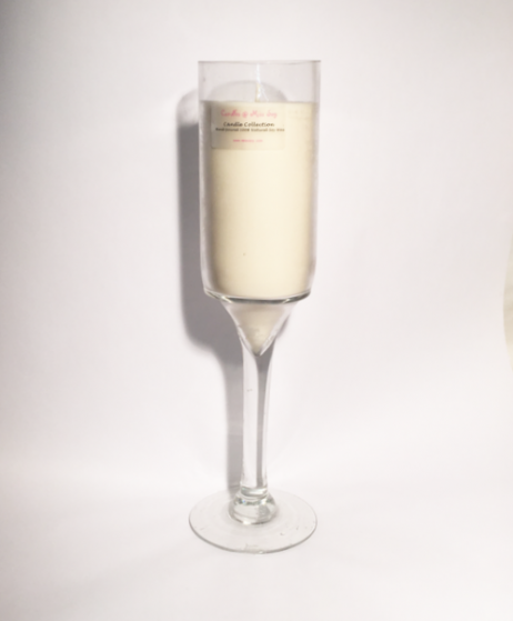 champagne/wine glass candle