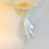martini glass candle filled with soy wax