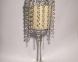 glass droplet goblet on a stand