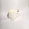 white porcelain diamond cube