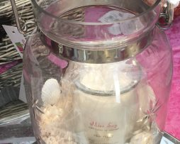 Glass Lantern with Candle - Seaside