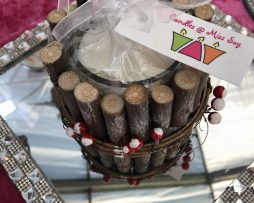 Wooden Berry Candle filled with one of our lovely Christmas fragrances.