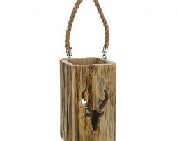 natural stag lantern
