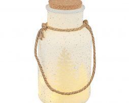 Winter White LED Frosted Glass Bottle