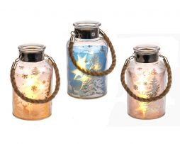 Winter Scene LED Jar