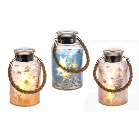 Winter Scene LED Jar