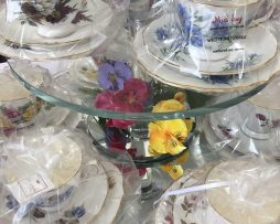 Vintage Cups and Saucers scented with soy candle